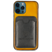 Etui iPhone Twelve Pro Vegas Yellow Wallet Black