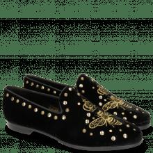 Mokasyny Scarlett 38 Velluto Black Embroidery