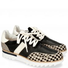 Sneakersy Hank 2 Hairon Tweed Vegas Black White