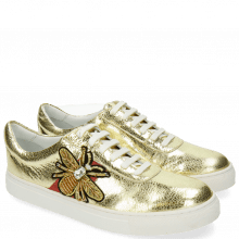 Sneakersy Jeanne 4 Metal Gold Bee Patch