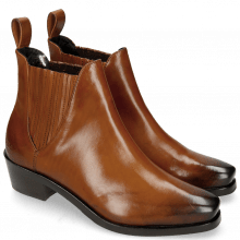 Botki Kylie 1 Wood Elastic Dark Brown