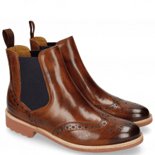 Botki Selina 6 Wood Elastic Purple RS Brown