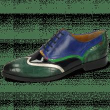 Oksfordki Jessy 13 Crock Pine Nappa Aztek Gold Soft Patent Oriental Saphir Korela Green