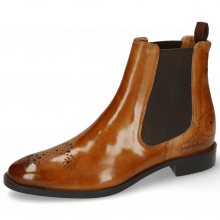 Botki Betty 1 Cognac Elastic Dark Brown