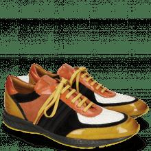 Sneakersy Blair 13 Yellow Suede Pattini Black Underlay Milled White Orange Lycra