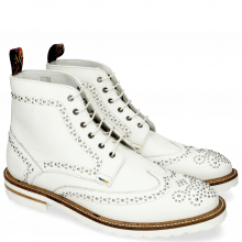 Botki Matthew 7 Milled White Rivets