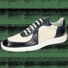 Sneakersy Newton 6 Imola Guana Navy Perfo White