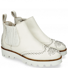 Botki Sandy 4 Milled White Rivets Elastic Off White