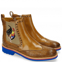 Botki Amelie 47 Crock Perfo Cashmere Embrodery Rooster