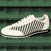 Sneakersy Pharell 10 Vegas White Woven Imola Black White