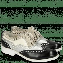 Oksfordki Amelie 87 Vegas Black Talca Silver Hairon Young Zebra