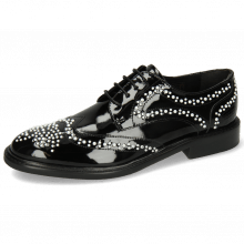 Derby Sally 53 Patent Black Rivets White
