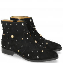 Botki Candy 7 Oily Suede Black Rivets