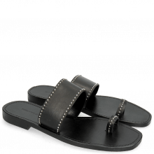 Mule Elodie 19 Salerno Black Rivets