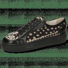 Sneakersy Amber 2 Imola Black Hairon Snake Dots