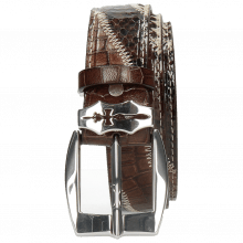 Paski Larry 2 Python Brown Hairon Black White Crock Mogano Sword Buckle