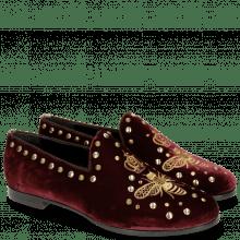 Mokasyny Scarlett 38 Velluto Wine Embroidery