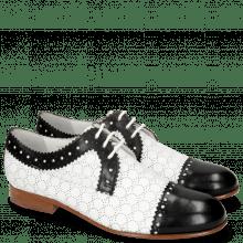 Derby Sally 107 Black Nappa Perfo White