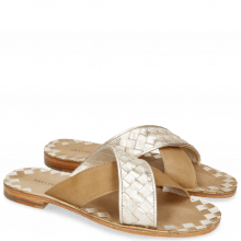 Mule Elodie 10 Woven Cherso Bisque Vegas Sand