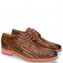 Derby Brad 7 New Haring Bone Weave Wood Ruby