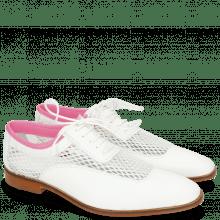 Oksfordki Sara 1 Milled White Big Net Fluo Pink
