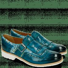 Monki Amelie 42 Textile Vintage Turquoise