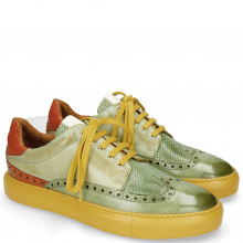 Sneakersy Harvey 16 New Grass Perfo Lawn Nappa Glove Kumquat White