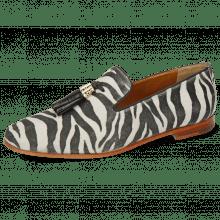 Mokasyny Scarlett 20 Suede Zebra Off White Tassel