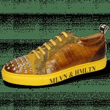 Sneakersy Harvey 12 Crock Sun Suede Pattini Snake Indy Yellow