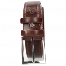 Paski Larry 1 Burgundy Classic Buckle