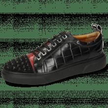 Sneakersy Harvey 12 Oily Suede Black Crock Ruby Monza