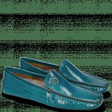 Mokasyny Home Donna Turquoise Sock Fur