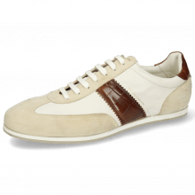 Sneakersy Pharell 12 Suede Ivory Nappa White Turtle Mid Brown