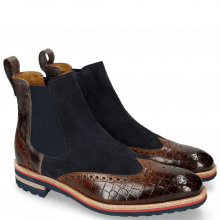 Botki Tom 13 Crock Wood Suede Pattini Navy
