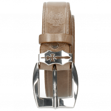 Paski Larry 1 Light Grey Sword Buckle