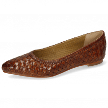 Baleriny Lydia 3 Woven Scale Light Tan