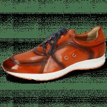 Sneakersy Blair 18 Pisa Orange Brown Suede Pattini Electric Blue