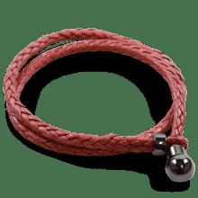 Bransoletki Caro 2 Woven Rich Red Accessory Gunmetal