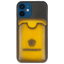 Etui iPhone Twelve Mini Vegas Black Wallet Yellow