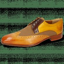 Derby Lewis 3 Imola Mastic Textile Safari Tan Mid Brown Yellow