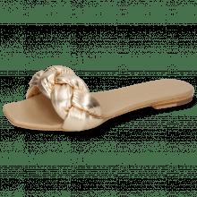 Mule Sandrine 3 Nappa Nude Gold Footbed