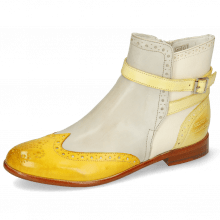 Botki Selina 25 Vegas Yellow Digital White Margarine Strap