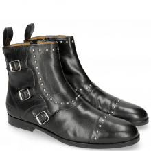 Botki Susan 45R Salerno Black Rivets