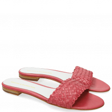 Mule Hanna 26 Woven Hot Pink White