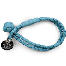 Bransoletki Caro 1 Woven Ice Blue Accessory Nickel
