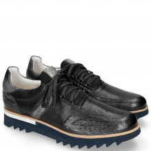 Sneakersy Hank 2 Ostrich Nappa Stretch Perfo Black