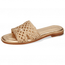 Mule Elodie 20 Mignon Open Woven Rose Gold