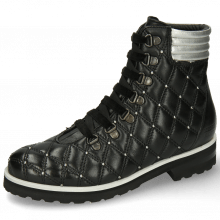 Botki Bonnie 17 French Nappa Black Talca Silver