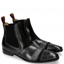 Botki Elvis 12 Turtle Black Suede Pattini Black