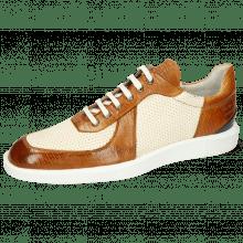 Sneakersy Newton 6 Imola Guana Tan Perfo White